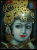 Ladoo Gopal Face Tanjore Painting With Frame